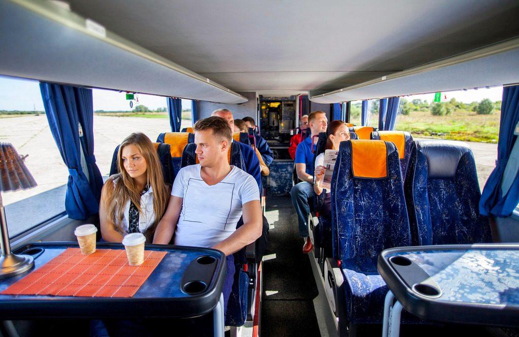 Салон автобуса Ecolines