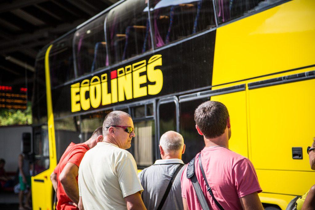 Автобус Ecolines в Тарту