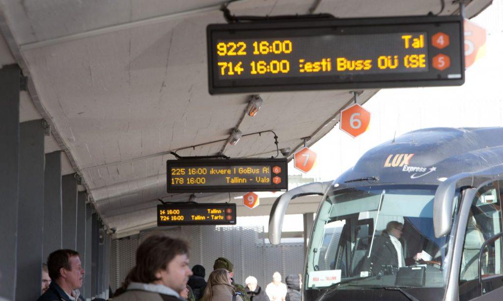 Ожидание автобуса в Пярну