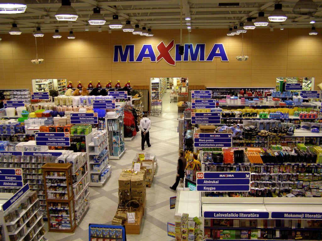 Ассортимент в магазине Maxima