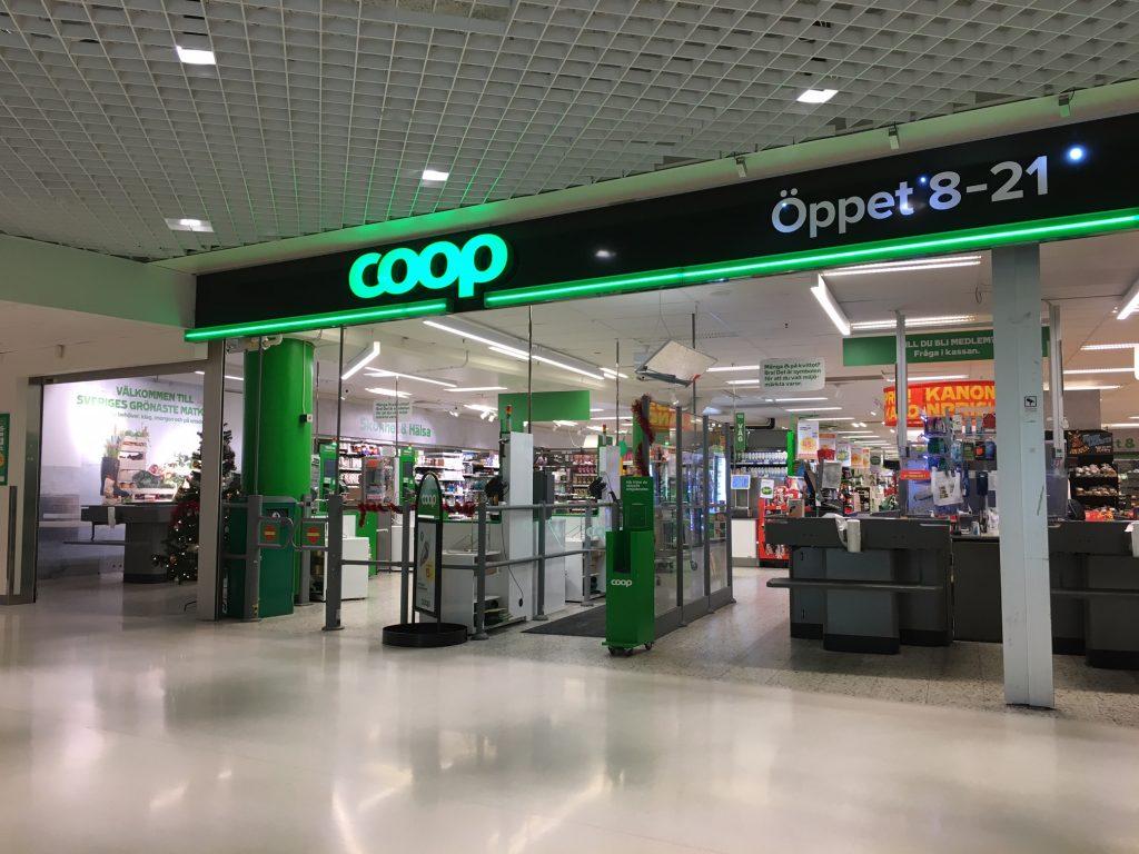 Супермаркет Coop в Стокгольме