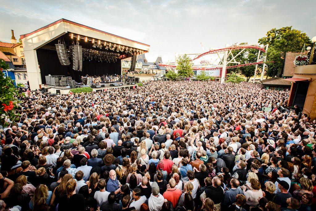 Концерт в парке Gröna Lund Стокгольма