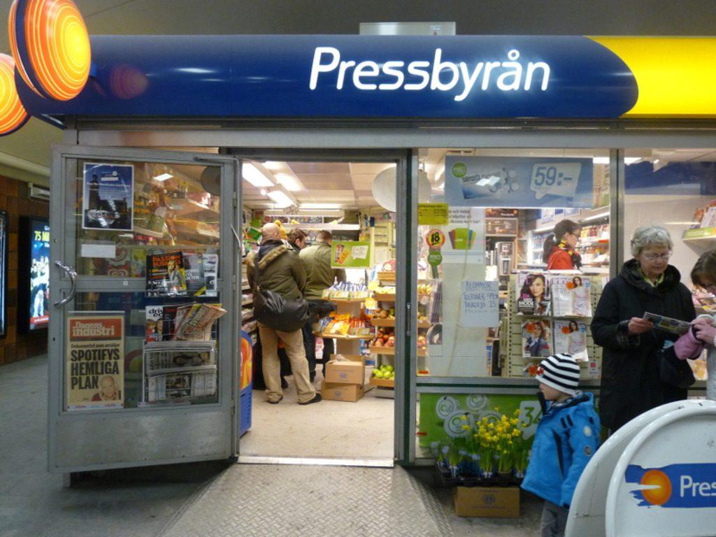 Pressbyrån в Стокгольме