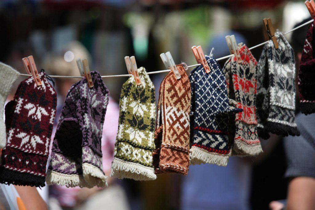 Традиционные латвийские шерстяные варежки