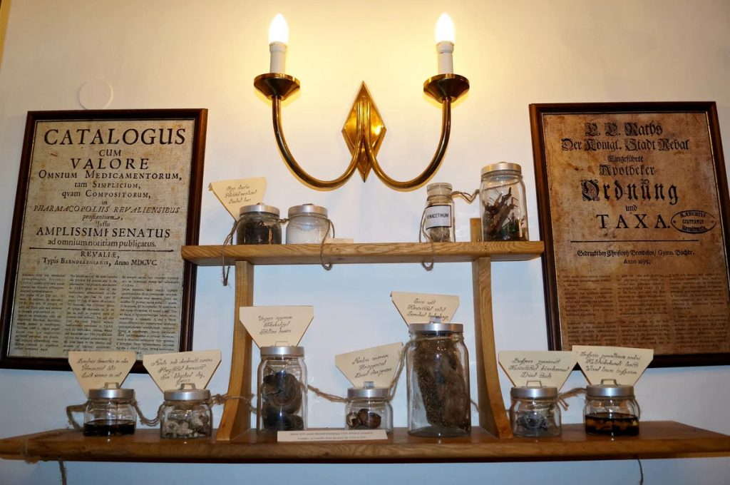 Сувениры из Ратушеной аптеки Таллина