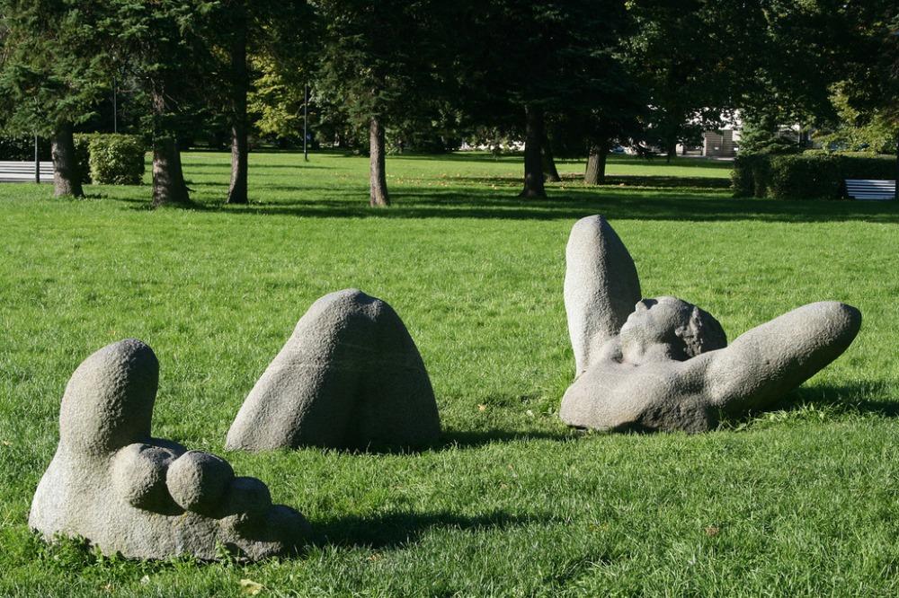 Скульптурная композиция «Отдыхающий»