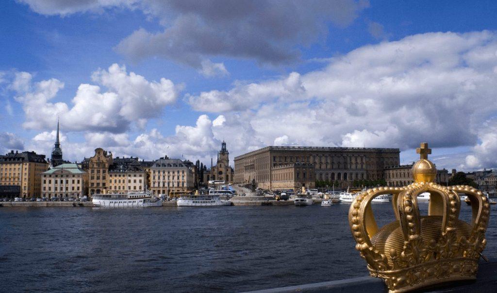 Королевский дворец с моста Skeppsholmsbron