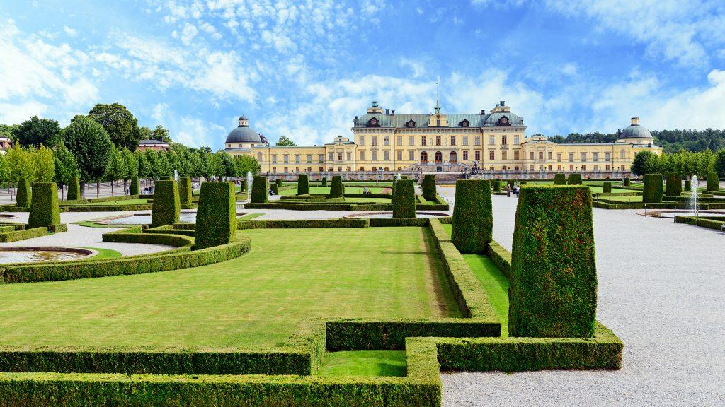 Сад при Королевском дворце в Стокгольме