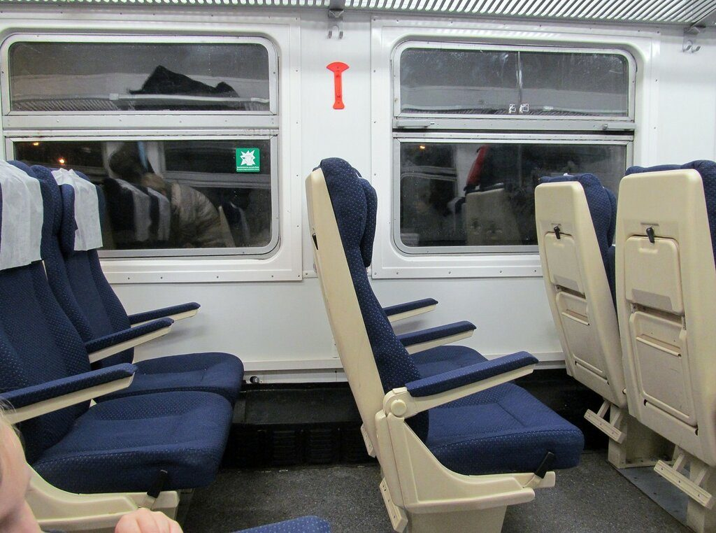 Поезде «Балтийский экспресс» внутри