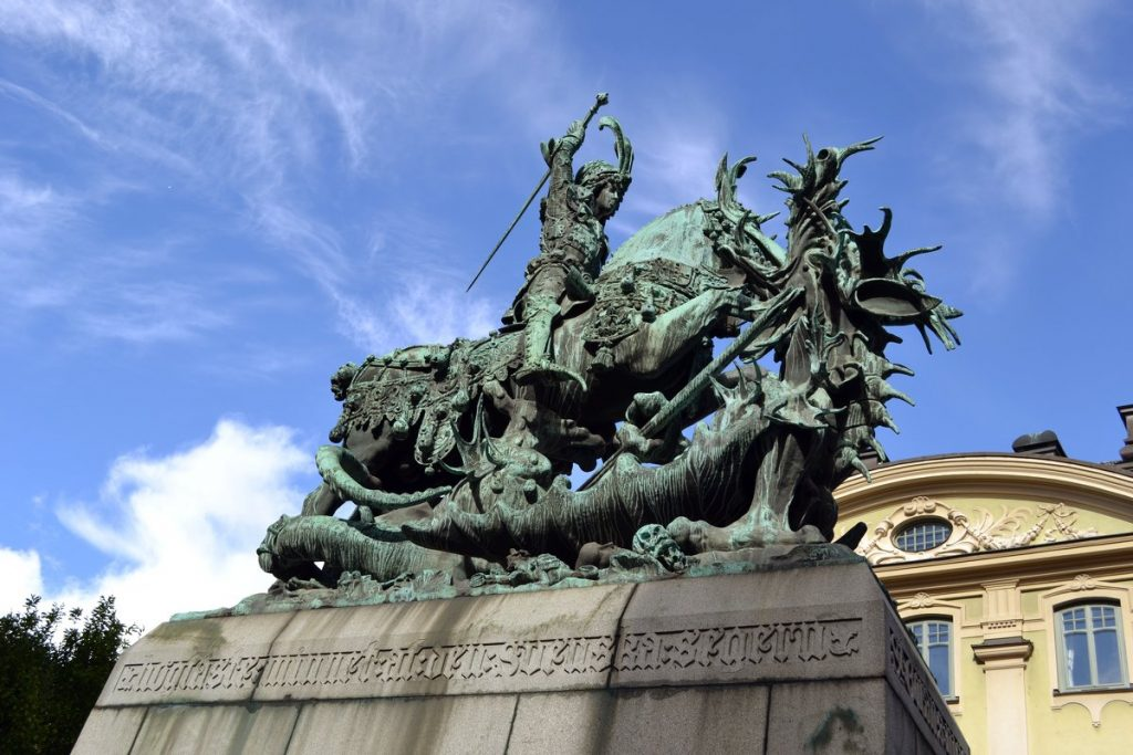 Памятник Святой Георгий и Дракон в Стокгольме