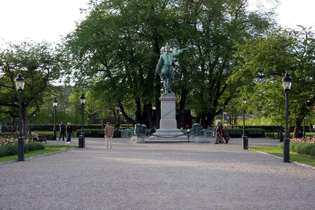 Памятник Карлу XII в Стокгольме