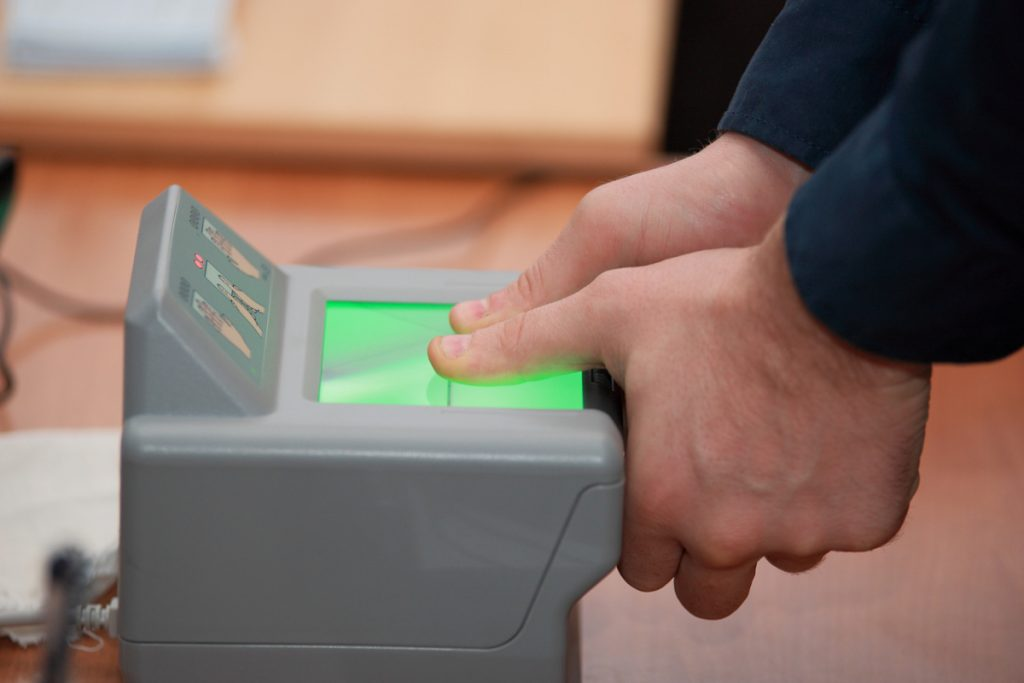 Процедура сдачи биометрических данных