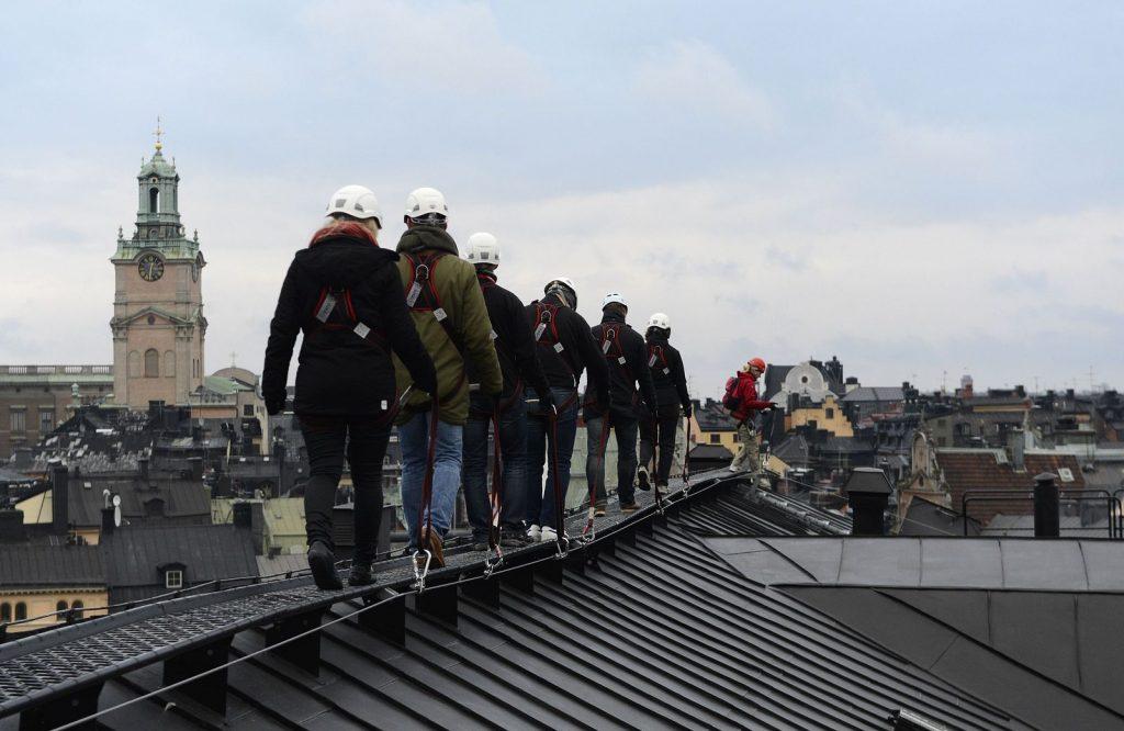 Прогулка по крышам Стокгольма