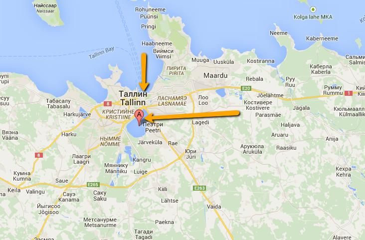 Таллин на карте