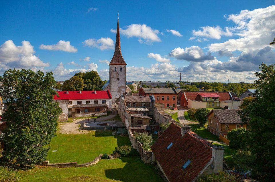 Город Раквере в Эстонии
